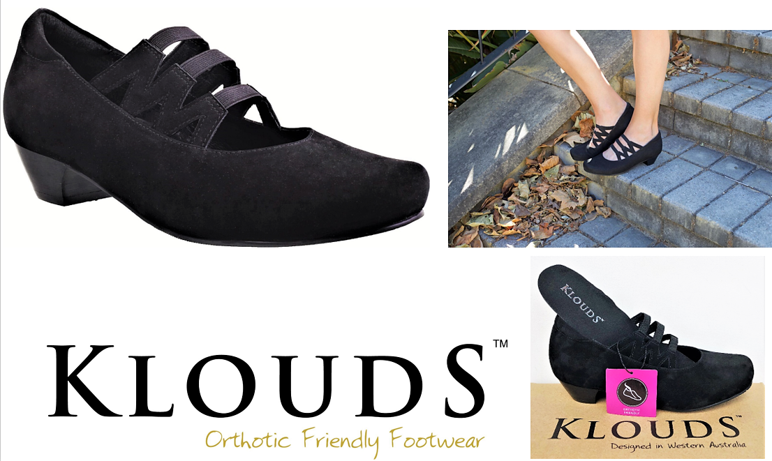 Klouds shoes - Orthotic friendly comfort leather heels Daisy