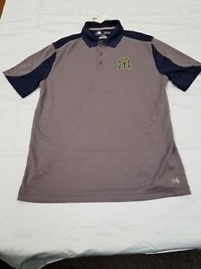NEW-MLB-NEW-YORK-Yankees-Majestic-Golf-Shirt-Men-039-s-Sz-M-L-XL-Baseball
