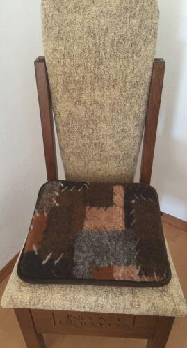 """coussins d/'assise -100/% Laine Coussin siège de voiture 4 st Coussins de chaise /""""patchwork foncé/"""""""
