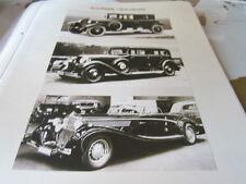 Deutsches Automobil Archiv D 1100 Mecedes Automobile der 30er JAhre