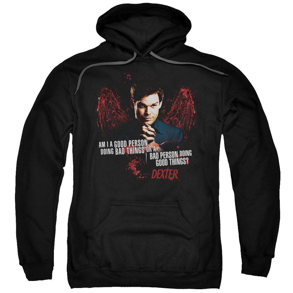 Dexter TV Series GOOD VS BAD Person Licensed Adult Sweatshirt Hoodie