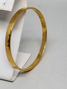 GERMANY-Gold-Tone-Faceted-Bangle-Vintage-Bracelet