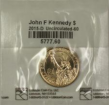 2015 John F Kennedy Presidential Dollar Rolls PD