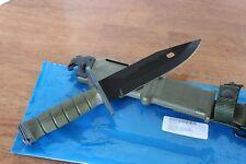 M-9Bayonet Survival Fighting Knife w/ Scabbard USGI TRI-TECHNOLOGIES 06MA8 NEW