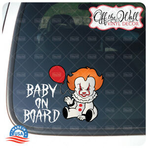 Baby-Pennywise-034-Baby-Kid-or-Kids-on-Board-034-BUYERS-CHOICE-Sign-PW2DCV