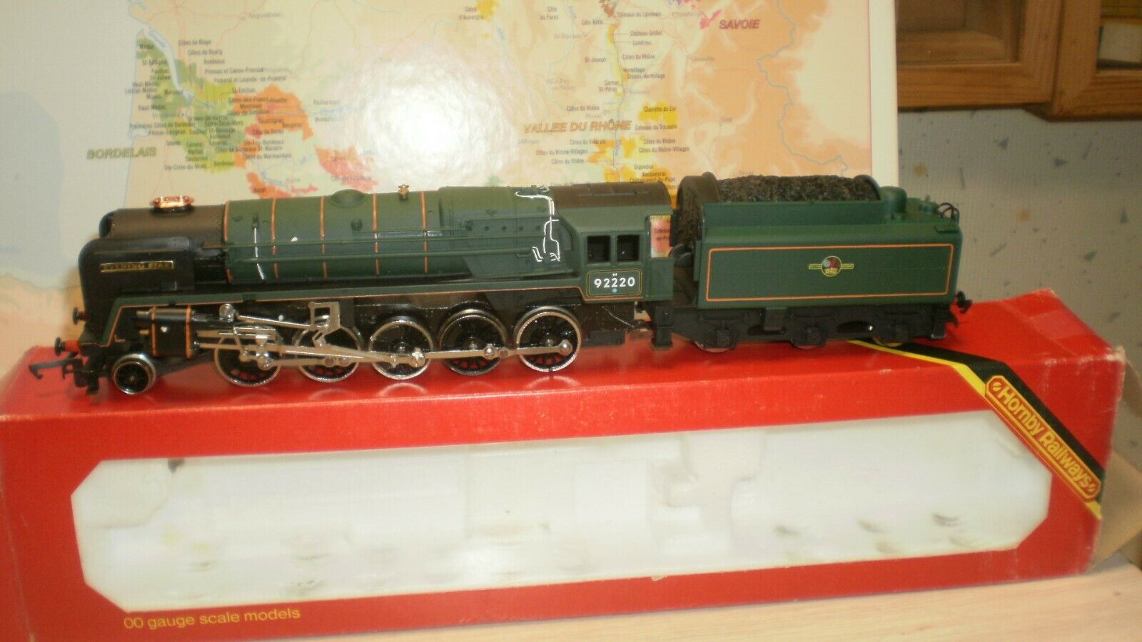 Loco vapeur class 9F   Evening Estrella   92220 BR Hornby Railways voie HO 2rails