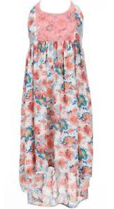 8f1222401d2 Bonnie Jean Big Girl s Floral-Print High-Low Dress-Size-14-Coral