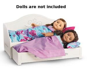 New American Girl Trundle Bed Bedding Set For 18 Luciana Blaire
