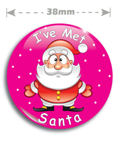 I/'ve Met Santa Badge 38mm With Safety Clip Santas Grotto Helpers Kids Christmas