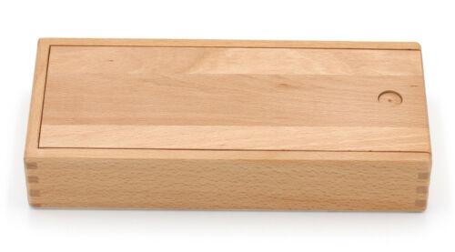 Organizer Stiftebox mit Schiebe-Deckel Holzschachtel Aufbewahrung Holzbox