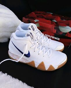 c23a06048256 5.5 YOUTH Nike Kyrie 4 Uncle Drew Basketball White Royal blue Gum ...
