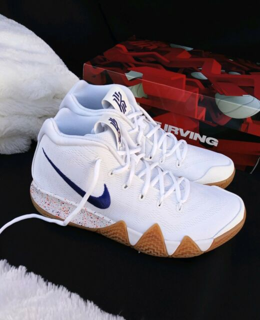 san francisco f140e 18bd5 6y Nike Kyrie 4 Uncle Drew Basketball White Royal Blue Gum 943806 100