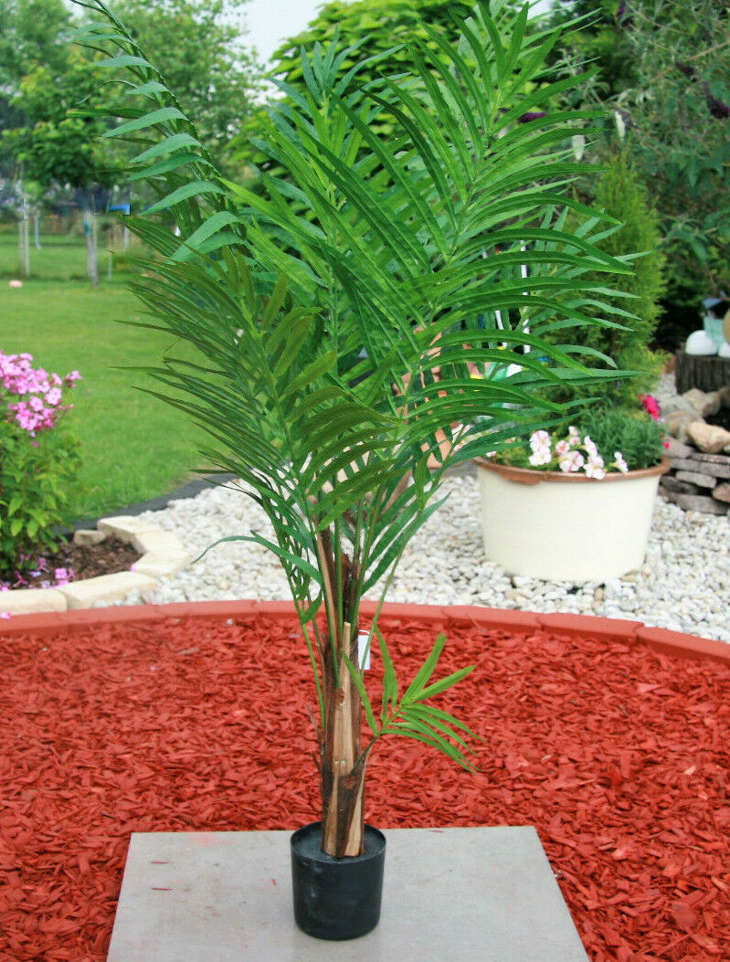 130 cm Palme 11 11 11 Palmenwedel Kunstpflanze Wedel Dekopalme Arecapalme Goldfrucht f00c85
