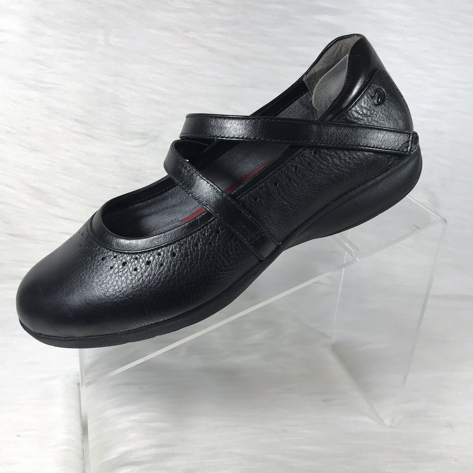Aravon By New Balance Women's Mary Jane shoes Black Leather Size 9 B