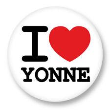 Porte clé Keychain Ø45mm I Love Yonne 89 Département Bourgogne