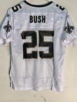 Reebok Women's Nfl Jersey Orleans Saints Reggie Bush White Sz M