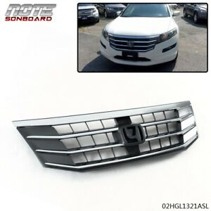 FIT FOR HONDA CROSSTOUR 2010-2012 CHROME MESH FRONT UPPER BUMPER GRILLE GRILL
