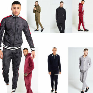 AARHON-MENS-1098-SKINNY-FIT-POUCH-POCKET-PULLOVER-POLO-TRACKSUIT-XS-XL