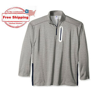3XL RUSSELL Athletic Big /& Tall Navy 1//4 Zip Poly Fleece Pullover w// Zip Pocket