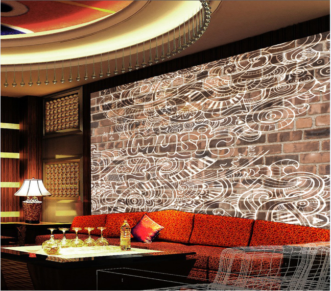 3D  Music Music Music Graffiti 853 Wall Paper Murals Wall Print Wall Wallpaper Mural AU Kyra 3522ca