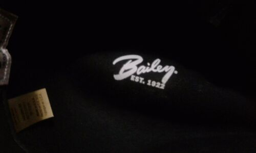 fad8f64be36 ... Bailey Virgil Men s 100% Wool Center Dent Crown Fedora Hat Black Made  In USA