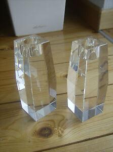 Paerchen-minimalistischer-Kristallglas-Kerzenstaender-KUBISCHE-Form-Handarbeit