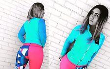 Turquoise WOMEN JACKETS GYM WORKOUT  ACTIVWEAR SPORTSWEAR