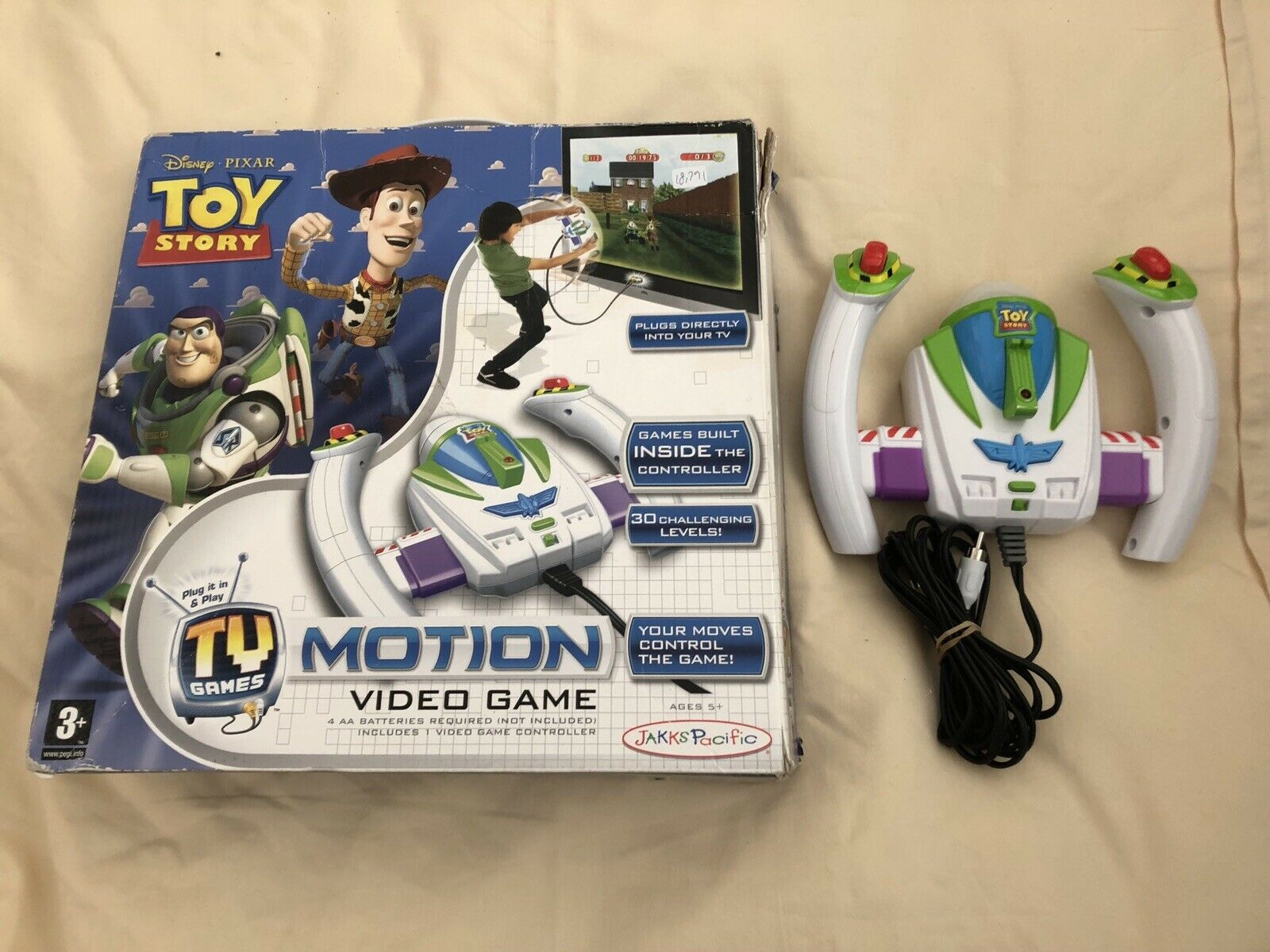 Jakks Pacific Toy Story Motion Video Game Plug & Play  Ages 5+ 18791