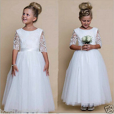 Flower Girl Dress Girl Communion Party Prom Princess Pageant Bridesmaid Handmade