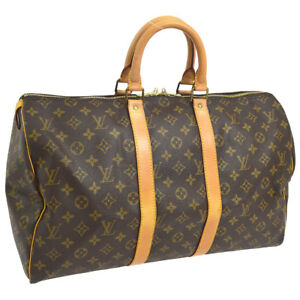 899338fb1950 AUTHENTIC LOUIS VUITTON KEEPALL 45 TRAVEL HAND BAG PURSE MONOGRAM ...
