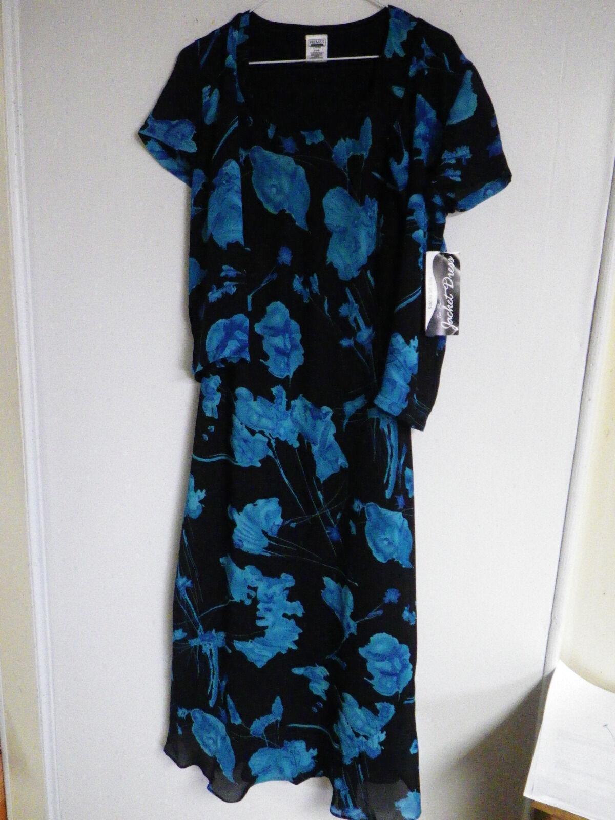 Womens clothingJacket Dress Premier International Chiffon Party Sheer Floral S