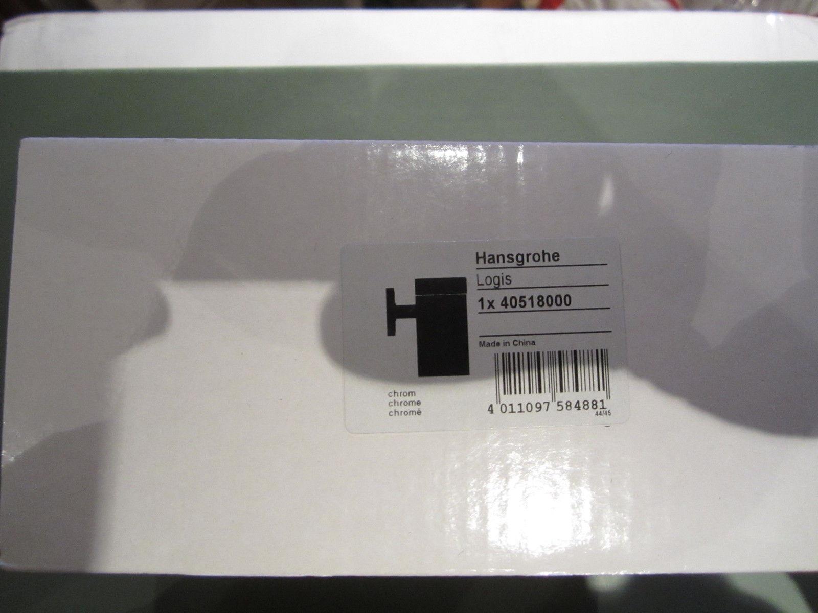 HANSGROHE LOGIS GLASHALTER CHROM NEU Nr.40518000