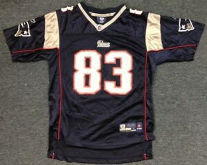 LIGHTLY WORN REEBOK NFL NEW ENGLAND PATRIOTS WES WELKER YOUTH JERSEY