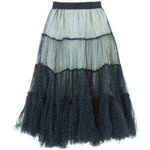 d701be4cd0cb2b Détails sur Jupe Maille Transparente Lacets Transparent Longueur Genou  Bohême Femme