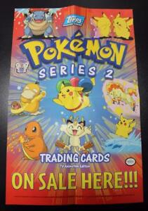 1999-Topps-POKEMON-Nintendo-Original-Series-2-Display-box-PROMO-POSTER-usa