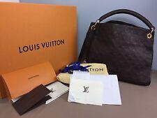$3150 LOUIS VUITTON Monogram Empreinte Artsy MM TERRE Bag  Purse Brown