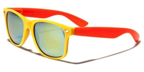 Colorful 2Tone Mens or Womens Classic Vintage Stylish Retro Sunglasses-WF012TRV