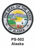 Alaska State Seal Embroidered Patch-3
