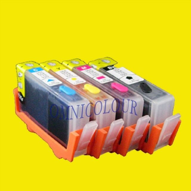 4 compatible refillable cartridge with chips/ink level for HP178 HP 178 B210 109