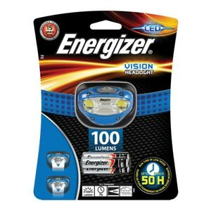 NEW-Energizer-Vision-100-Lumens-Bright-Torch-Headlight-LED-with-3-AAA-Batteries