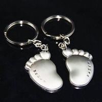 1Pair Cute Feet Pendant Key Chain Ring Keyring Keychain Keyfob Couple Lover Gift
