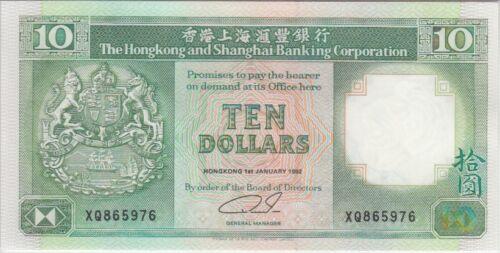 Hong Kong Banknote P191c 10 Dollars 1992 HSBC UNC