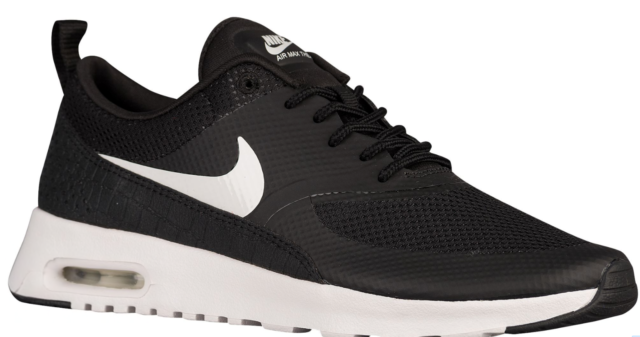 c039a45fc72f Women s Nike Air Max Thea Size 12 Black White Running Shoes for sale ...