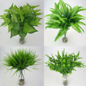 Am-1Pc-Fake-Leaf-Foliage-Bush-Indoor-Outdoor-Artificial-Plant-Garden-Decor-EP