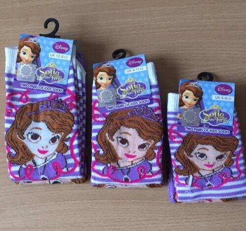 princess Sophia socks girls 2 pairs socks uk infant 6 uk 2 socks