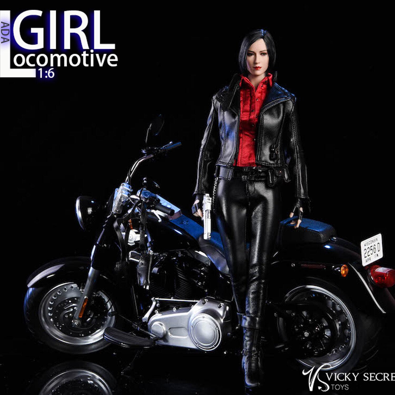Vstoys 18XG17 Locomotive Girl Leather Clothing Set Vicky Secret for 1 6th Figure