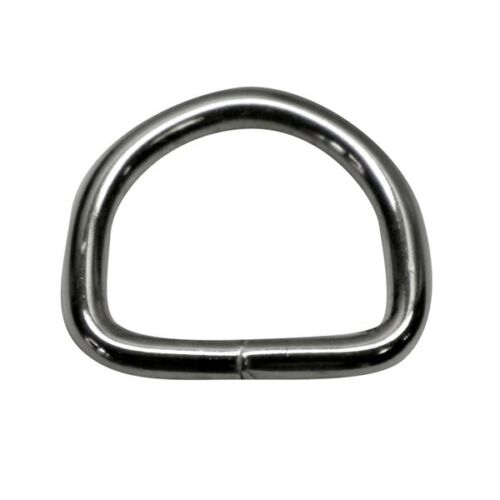 vernickelt 20 Stück 25mm D-Ringe geschweißt aus 4,0mm dickem Stahl