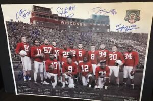 2018 wisconsin badgers football team schedule poster signed