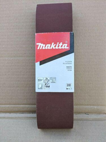 MAKITA 76MM X 610MM SANDING BELTS 240 GRIT PACK OF 5 P-37378