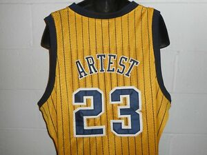 Details about Vintage Reebok Authentic #23 Metta World Peace Ron Artest Indiana Pacers Jersey